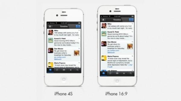 Así sería el iPhone 5 con una pantalla de 16:9