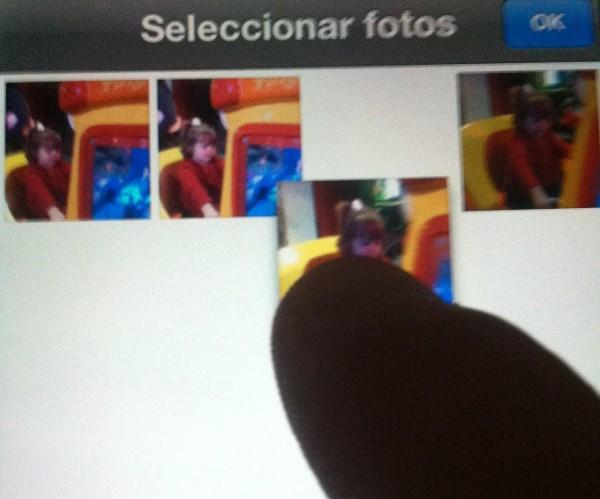 Cambiar de orden en el álbum de fotos del iPhone