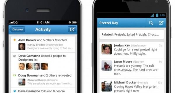 Twitter actualiza sus aplicaciones para iOS y Android