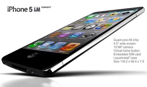 Concepto: iPhone 5 liquid metal