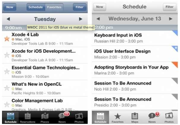 nuevo lomo plata de iOS 6