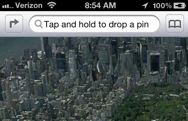 Filtrada aplicación Mapas 3D en iOS 6, llegara en verano