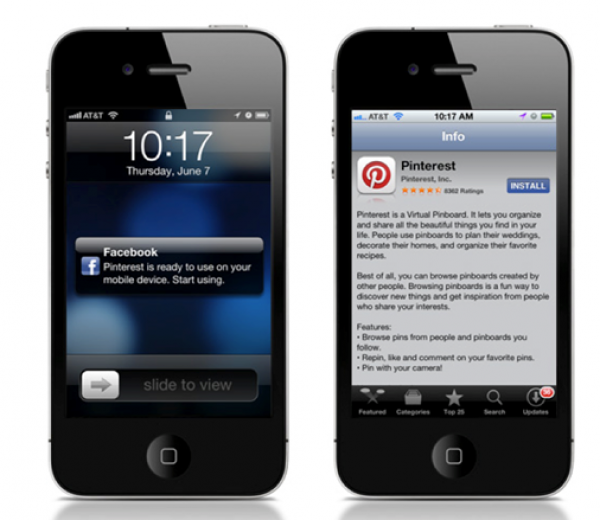 Facebook App Center en iPhone