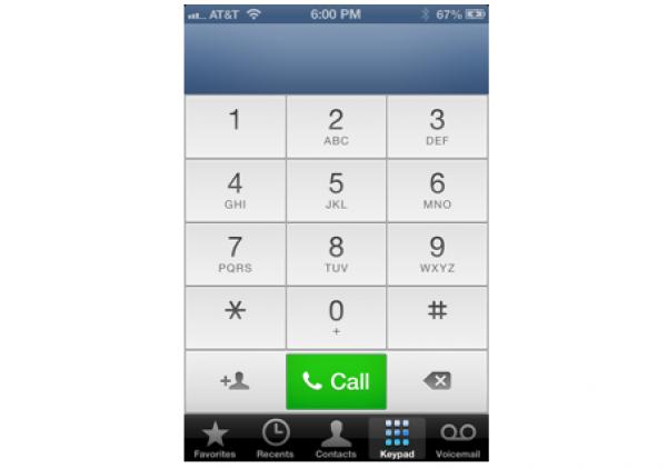 Nuevo diseño del menú de llamadas en iOS 6.0