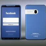 Facebook Phone del diseñador Michal Bonikowski delante, detrás