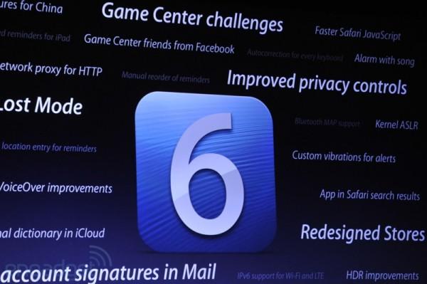 iOS 6 presentado en la WWDC 2012