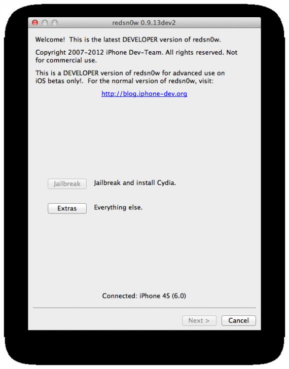 Jailbreak Tethered iOS 6 Beta 2 con Redsn0w 0.9.13dev2