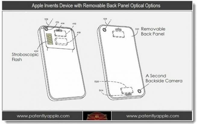 Nueva patente de Apple, carcasa posterior reemplazable para nuevas lentes