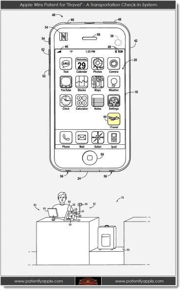Nueva patente de Apple iTravel con tecnología NFC