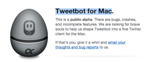 Disponible Tweetbot para Mac versión Alfa publica