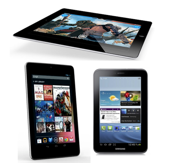apple iPad, Samsung nexus 7