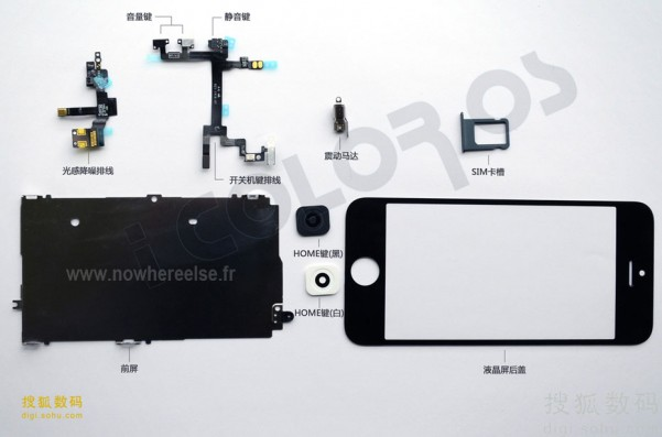 componentes internos iphone 5