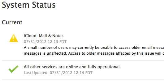 Solucionados los problemas de iCloud que no permitían acceder a correos antiguos