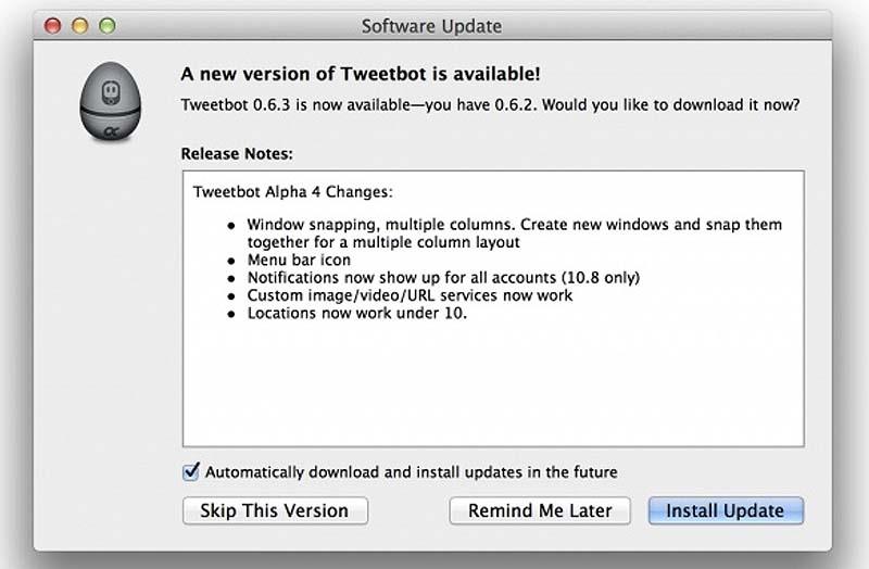 Nueva actualización de TweetBot para OS X