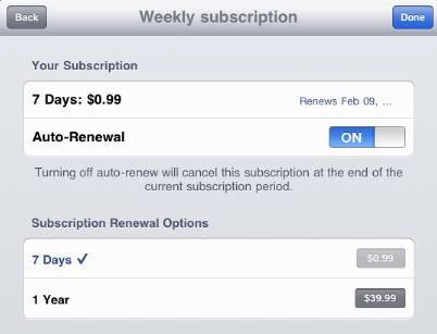 anular la suscripción de una aplicación de la App Store