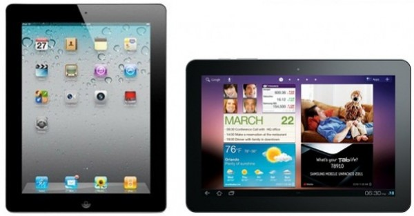 apple iPad, samsung galaxy tab