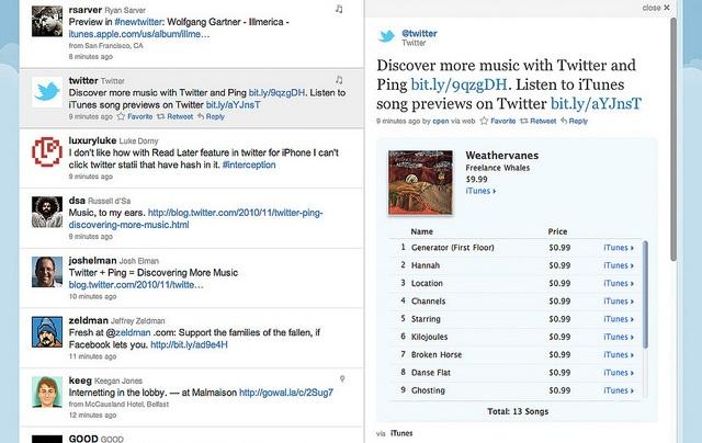 Con la desaparición de Ping Twitter podría integrarse con iTunes
