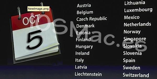iPhone 5 el 5 octubre