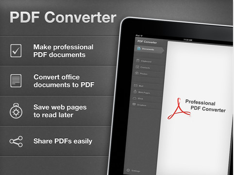 PDF Converter: convierte tus archivos a PDF con el IPad