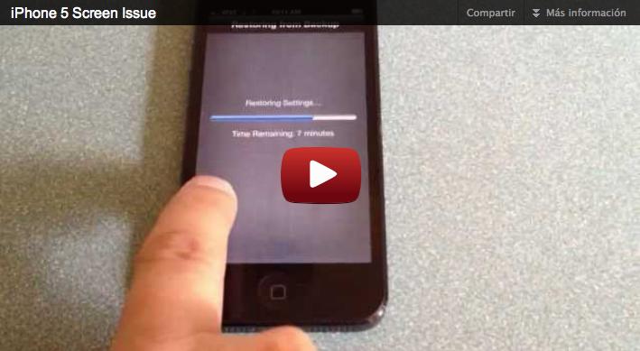 fallos pantalla iphone 5