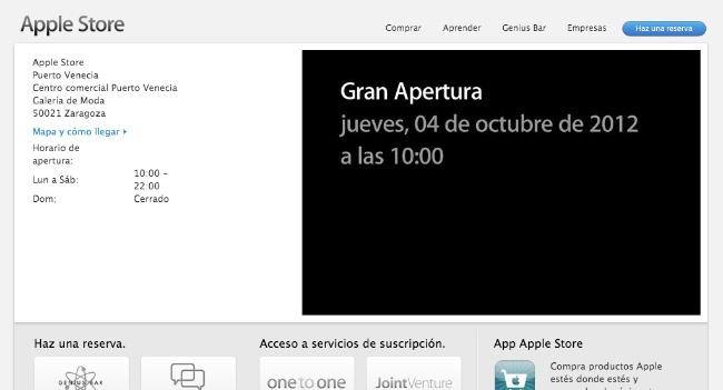 Apple confirma: Nueva apertura en de una Apple Store en Zaragoza.