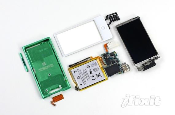 interior del iPod nano