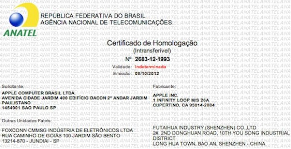 Brasil certifica el iPhone 5 para la venta
