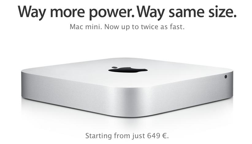 Nuevo Mac Mini, mismo diseño pero con mucha potencia en su interior.