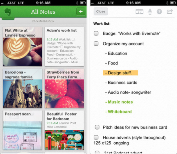 evernote 5 iphone