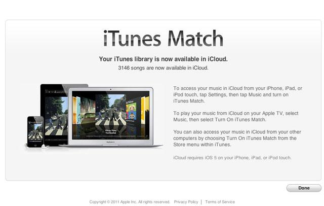 iTunes Match cumple un año y toca pasar por caja