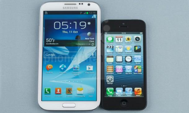 iPhone 5 apple vs Galaxy note samsung