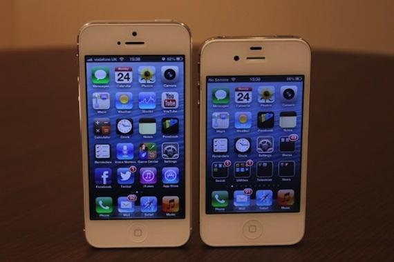 iPhone 5 contra iPhone 4
