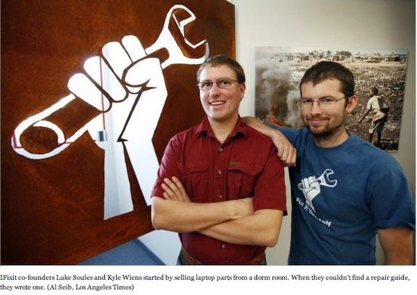 Kyle Wiens y Luke Soules-ifixit