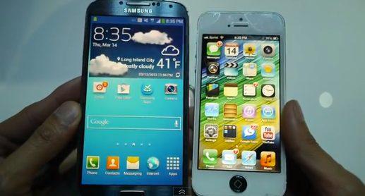 iphone 5 vs Galaxy S4