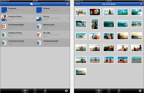 SkyDrive 3.0-ipad