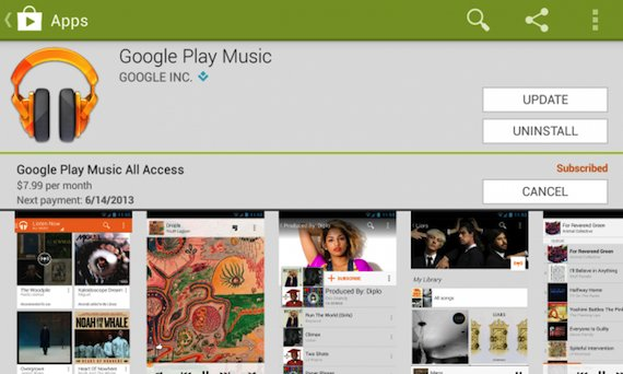 Google Play Music All Access-ios
