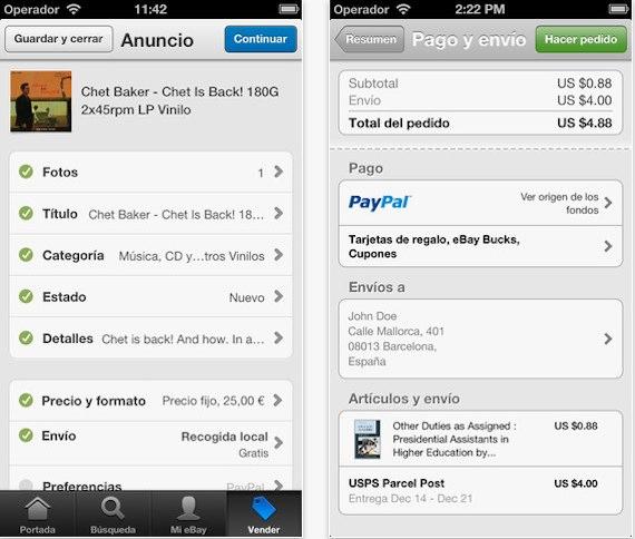 La App eBay iOS recibe una actualización con una interfaz