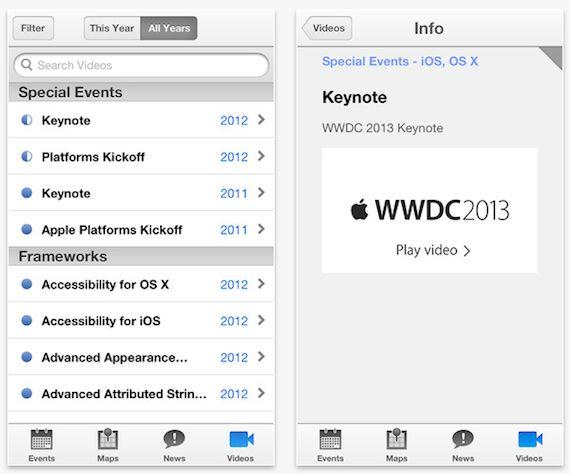 app de la WWDC 2013