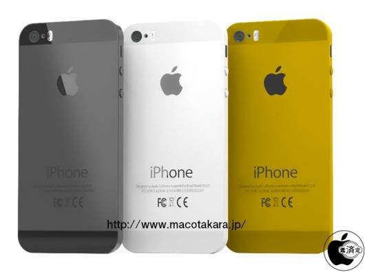 El iPhone 5S estará disponible en negro, blanco y oro. Estaría en producción el iPhone low cost