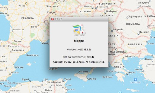 Mapas en OS X 10.9 Mavericks