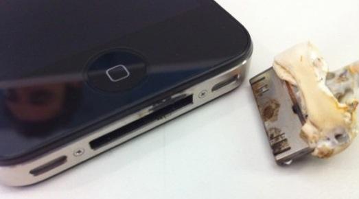 descarga eléctrica de un iPhone