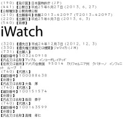 Apple registra iWatch en Japón