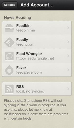 Reeder ahora compatible con Feedly