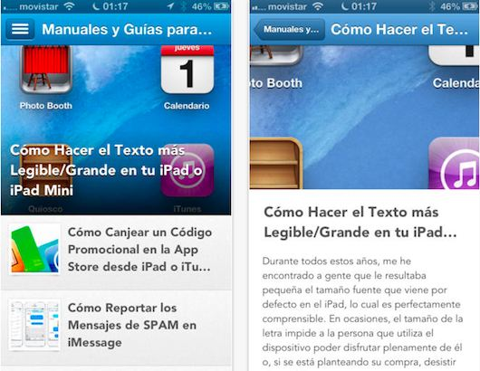 Manuales y Guias para iPad e iPad mini