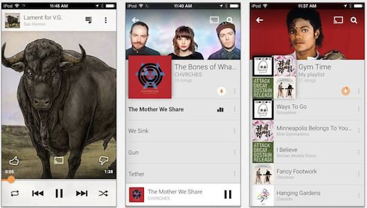 Google-Play-Music se actualiza con-gráficos de iOS 7-iosmac