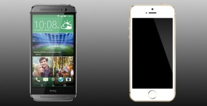 HTC One M8 vs iPhone 5s-iosmac_