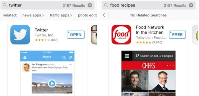 Apple va a actualizar la búsqueda en la App Store dentro de unos días