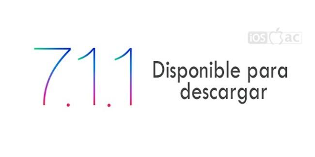 iOS 7.1.1 disponible para iPhone, iPod Touch y iPad | Enlaces para descarga [ACTUALIZADO]