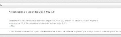 actualización de seguridad de Safari 7.0.3 para OS X-iosmac
