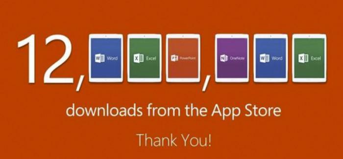 Las Apps de Microsoft para iPad con 12 millones de descargas